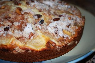 Pear and pine nut cake