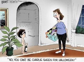Charlie sheen halloween constumes