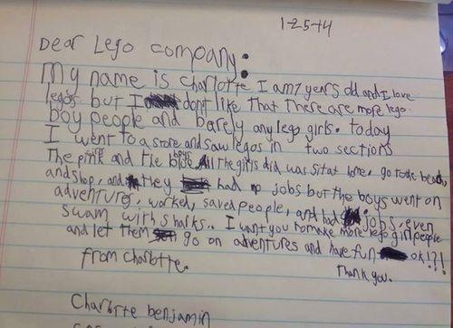 Letter toLego