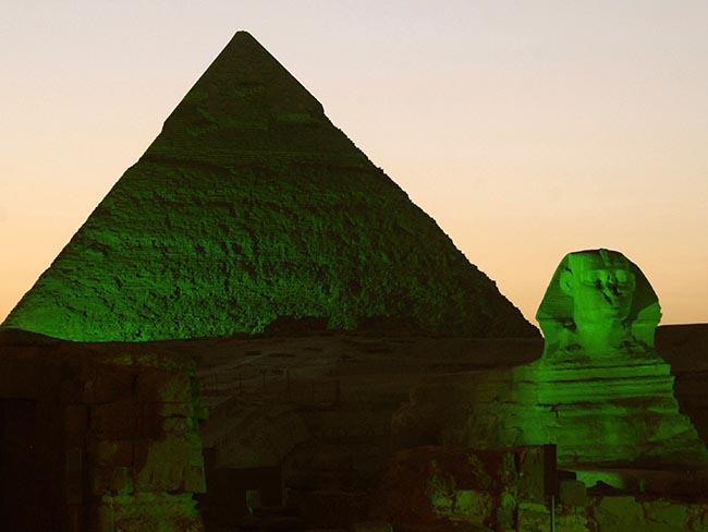 MI+Giza+Pyramid+green+St+Patricks+Day+Tourism+Ireland