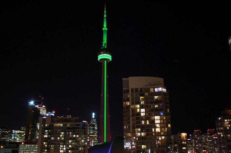 The-CN-Tower-Toronto-Canada-St.-Patricks-Day